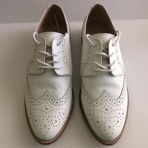ASOS Shoes Women's Oxfords Size 6.5M White Leather
